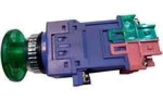 Кнопка без фиксации, водонепроницаемая, с красной LED подсветкой 12V.