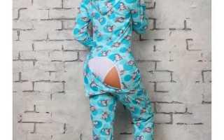 Пижама-комбинезон с карманом на попе