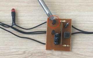 Мигалка для ремонта ёлочной гирлянды на 230В