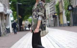 Женские камуфляжные куртки: модные посезонные образы