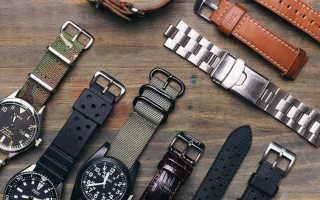 Ремешки и браслеты для наручных часов: виды, модели, правила выбора