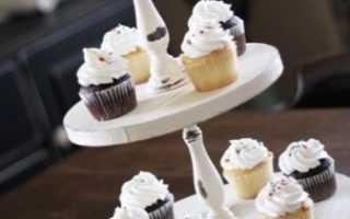 Как сделать подставку для торта в домашних условиях: 3 способа