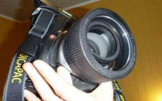 Простой подводный бокс для фотоаппарата