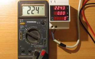 Индикатор напряжения на DIN-рейку