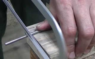 Кухонный нож из диска от циркулярки