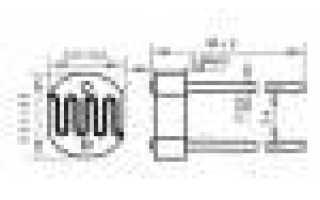 Фоторезистор, датчик освещенности 5мм GL5528 5528 для Arduino