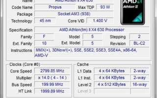 AMD Athlon II X4 630: технические характеристики и тесты