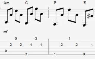 Как играть Жуки — «Батарейка» на гитаре на одной струне. Табы с аудио примером и описанием