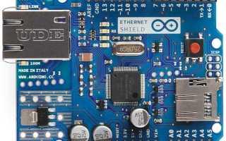 Подключаем новенький чип от WIZnet: W5500. IP для маленьких вещей