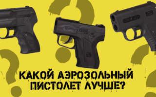 Какой аэрозольный пистолет лучше? Выбираем пистолет для самообороны