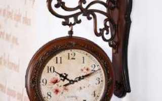 Часы настенные двухсторонние в Выборге