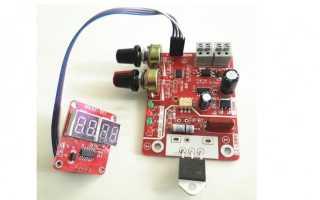 Точечная сварка для литий-ионных аккумуляторов с симистором на 100А