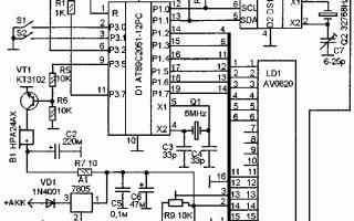 Часы-будильник на микроконтроллере АТ89С2051 и DS1307