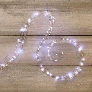 Гирлянда Хвост Роса 15*1.5 м, 200 холодных белых MINILED ламп,серебряная ПРОВОЛОКА