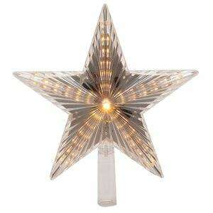 Светящаяся звезда на елку Волшебная 22 см теплая белая 31 LED лампа