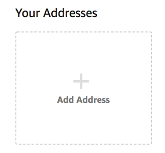 Добавить адрес Amazon