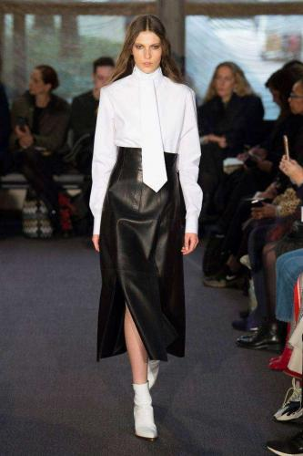 Кожаная юбка Derek Lam