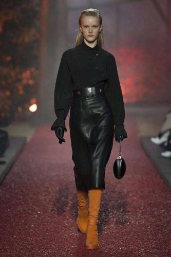 Кожаная юбка Hermès